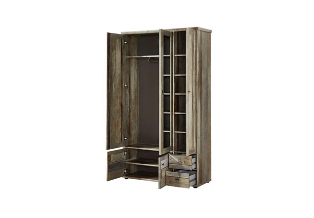 garderobenschrank bonanza dielenschrank schrank driftwood b 110 cm ebay. Black Bedroom Furniture Sets. Home Design Ideas