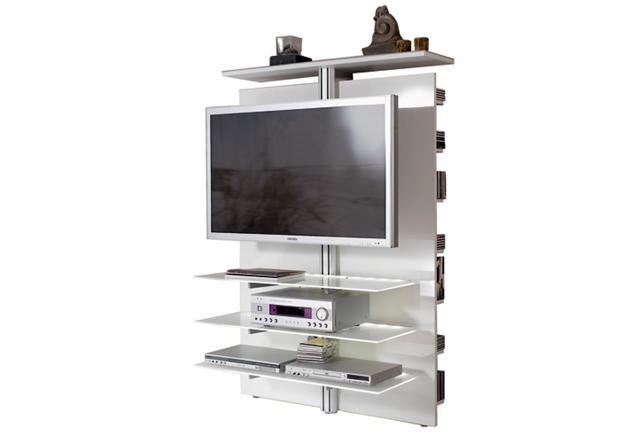 tv wand slc lcd 1900 jahnke media m bel hochglanz in schwarz oder weiss. Black Bedroom Furniture Sets. Home Design Ideas