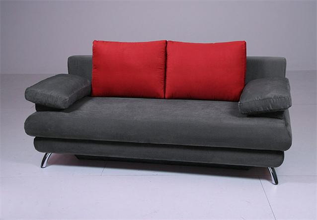 doppelschlafsofa aldo sofa mit bettfunktion in anthrazit rot ebay. Black Bedroom Furniture Sets. Home Design Ideas