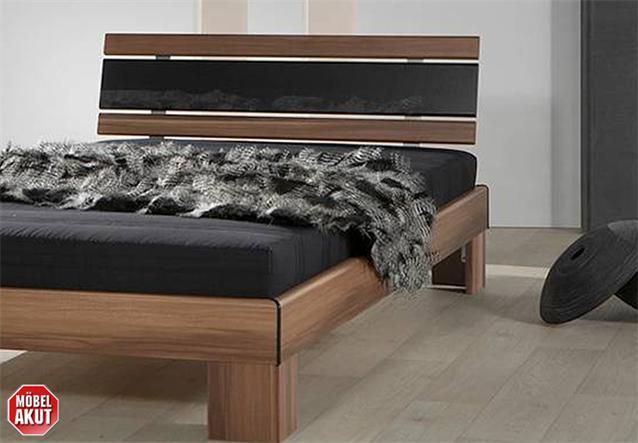 about futonbett gino bett nussbaum hochglanz schwarz. Black Bedroom Furniture Sets. Home Design Ideas