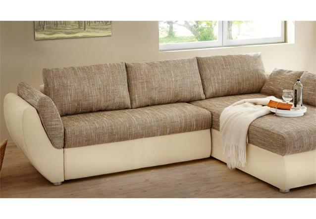 Wohnlandschaft taifun ecksofa sofa hellbraun und beige for Wohnlandschaft ebay