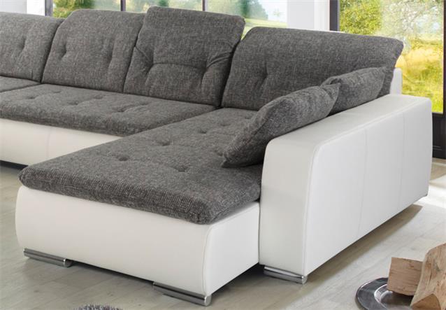 WOHNLANDSCHAFT FERRARA SOFA ECKSOFA WEIß UND GRAU  eBay -> Quadratisches Sofa