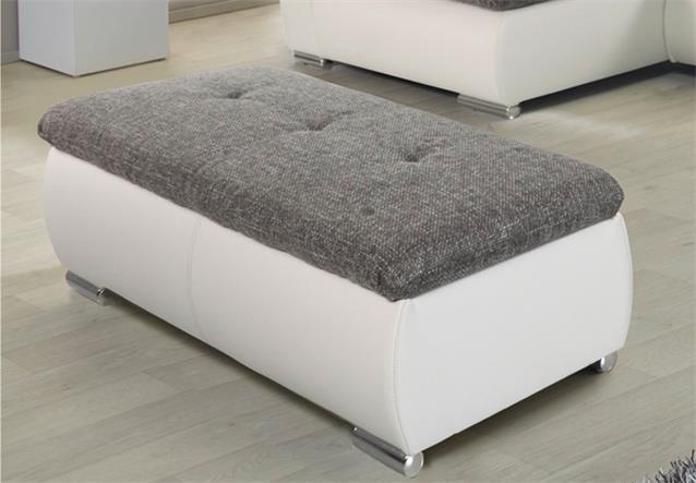 hocker ferrara polsterhocker in wei und strukturstoff. Black Bedroom Furniture Sets. Home Design Ideas