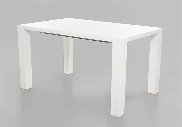 esstisch elke tisch wei hochglanz 120x90 cm ausziehbar auf 160 cm ebay. Black Bedroom Furniture Sets. Home Design Ideas