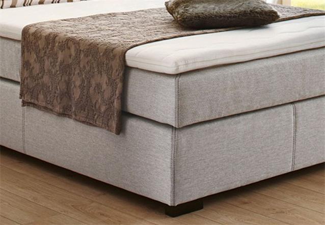 boxspring bett romantica doppelbett hotelbett lava und beige inkl topper 140x200 ebay. Black Bedroom Furniture Sets. Home Design Ideas