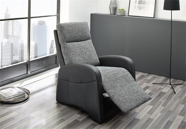 Tv sessel marcel fernsehsessel in schwarz und stoff grau for Fernsehsessel stoff grau