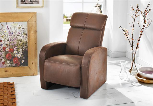 tv sessel power fernsehsessel in vintage look braun mit. Black Bedroom Furniture Sets. Home Design Ideas