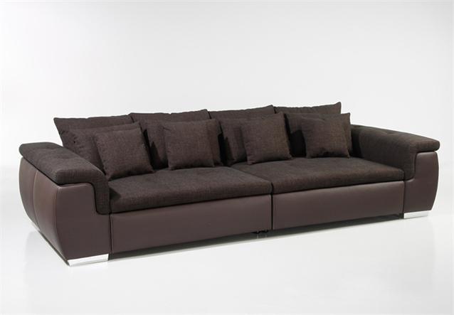 big sofa big point sofa in webstoff braun mit kissen ebay. Black Bedroom Furniture Sets. Home Design Ideas