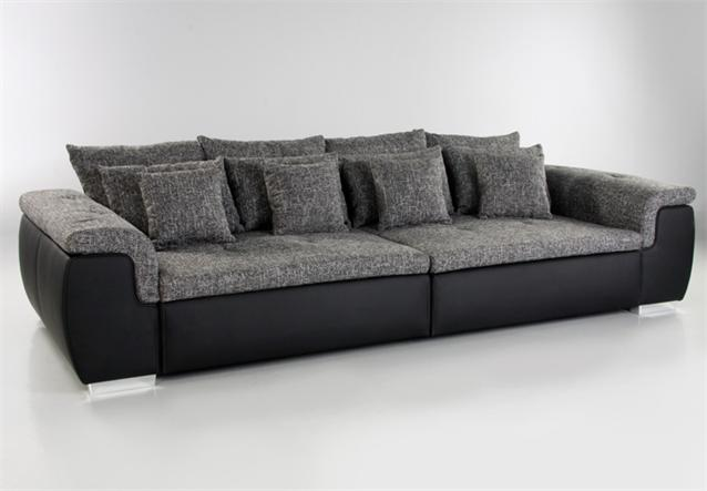 big sofa big point sofa schwarz webstoff anthrazit ebay. Black Bedroom Furniture Sets. Home Design Ideas