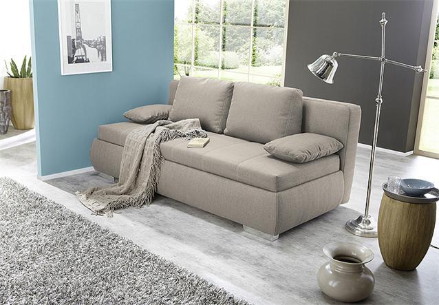 boxspring schlafsofa memphis sofa dauerschl fer in beige mit kissen. Black Bedroom Furniture Sets. Home Design Ideas