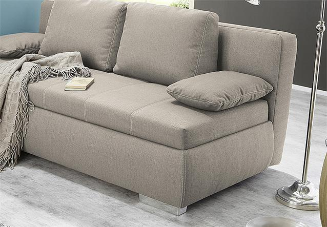 boxspring schlafsofa memphis sofa dauerschl fer in beige mit kissen. Black Bedroom Furniture Sets. Home Design Ideas