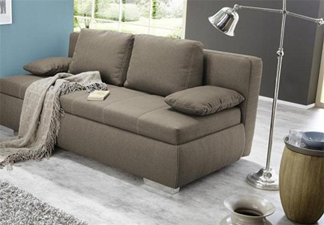 boxspring schlafsofa memphis sofa dauerschl fer hellbraun ebay. Black Bedroom Furniture Sets. Home Design Ideas