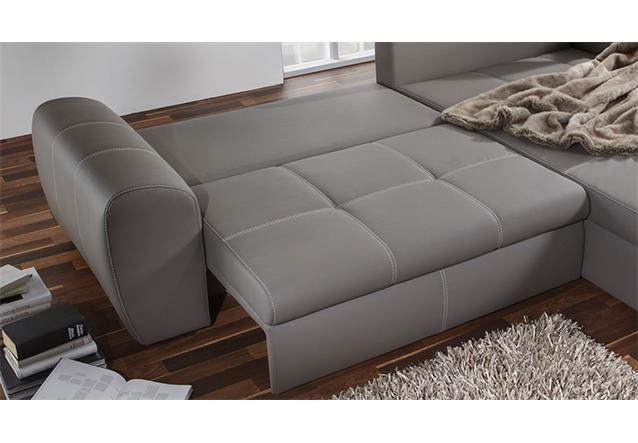 Wohnlandschaft cascada sofa mit ottomane in schlammfarbig for Wohnlandschaft b ware