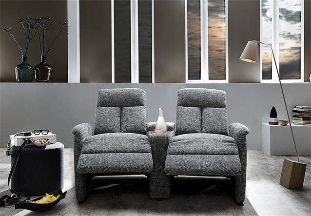 cinema sessel los angeles 2er kinosessel kinosofa sofa greige getr nkehalter ebay. Black Bedroom Furniture Sets. Home Design Ideas