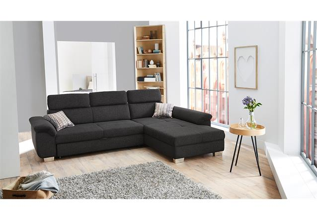 wohnlandschaft landshut ecksofa sofa grau bettfunktion verstellbare kopfst tzen. Black Bedroom Furniture Sets. Home Design Ideas