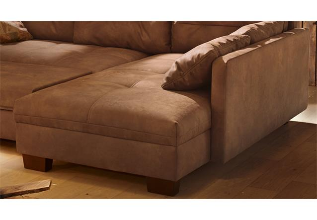Wohnlandschaft monaco ecksofa sofa mit schlaffunktion vintage antiklederoptik ebay - Sofa antiklederoptik ...
