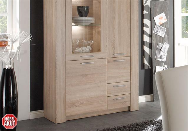 vitrine tablo schrank in sonoma eiche s gerau neu ebay. Black Bedroom Furniture Sets. Home Design Ideas
