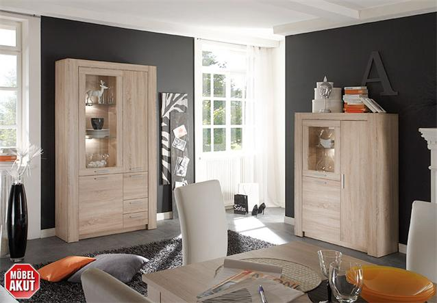 vitrine tablo schrank in sonoma eiche s gerau neu ebay. Black Bedroom Furniture Sets. Home Design Ideas