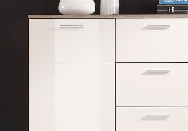 kommode 4 shadow sideboard eiche tr ffel magnolie creme. Black Bedroom Furniture Sets. Home Design Ideas