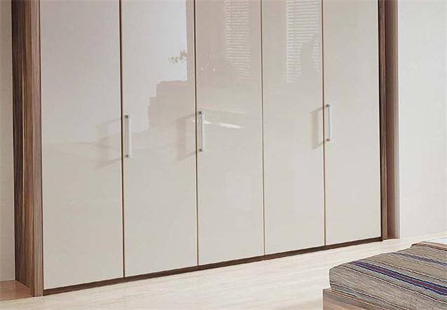 kleiderschrank solo schlafzimmerschrank schrank wei hochglanz nussbaum 260 cm ebay. Black Bedroom Furniture Sets. Home Design Ideas