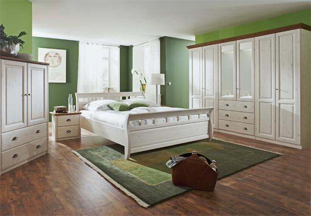 kleiderschrank ole kiefer massiv wei 6 t rig mit spiegel landhausstil. Black Bedroom Furniture Sets. Home Design Ideas