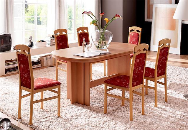 esstisch nancy esszimmer tisch ausziehbar in walnuss 160 320x90 cm ebay. Black Bedroom Furniture Sets. Home Design Ideas