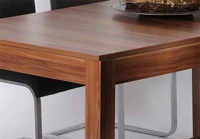Esstisch kurt esszimmer tisch ausziehbar in walnuss 160 for Esstisch walnuss ausziehbar