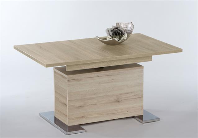 couchtisch kairo beistelltisch tisch h henverstellbar ausziehbar san remo hell ebay. Black Bedroom Furniture Sets. Home Design Ideas