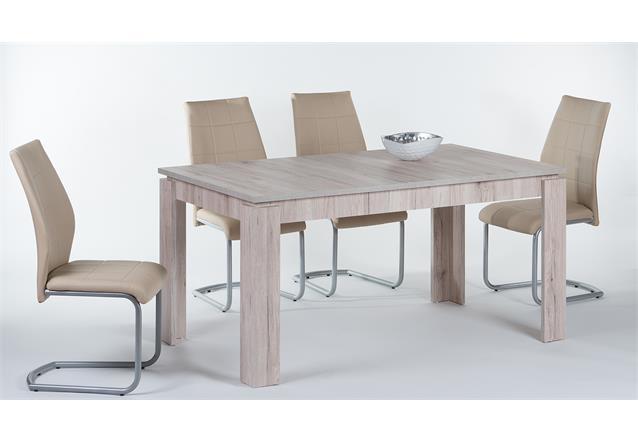 esstisch joel esszimmertisch tisch in sandeiche ausziehbar 160 200x90 cm. Black Bedroom Furniture Sets. Home Design Ideas