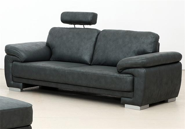 sofa nele polsterm bel bigsofa lederlook in anthrazit 3 sitzer. Black Bedroom Furniture Sets. Home Design Ideas