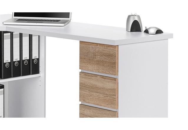 schreibtisch maja 9543 computertisch pc tisch b rotisch tisch wei sonoma eiche ebay. Black Bedroom Furniture Sets. Home Design Ideas