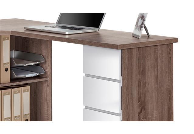schreibtisch maja 9543 computertisch b rotisch eiche tr ffel wei hochglanz ebay. Black Bedroom Furniture Sets. Home Design Ideas