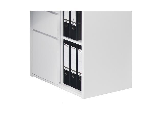 mini office maja 9562 schreibtischkombi regal schreibtisch in wei hochglanz ebay. Black Bedroom Furniture Sets. Home Design Ideas