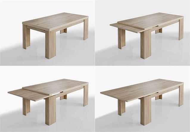 tischgruppe big zip esszimmer tisch bank hocker in eiche. Black Bedroom Furniture Sets. Home Design Ideas