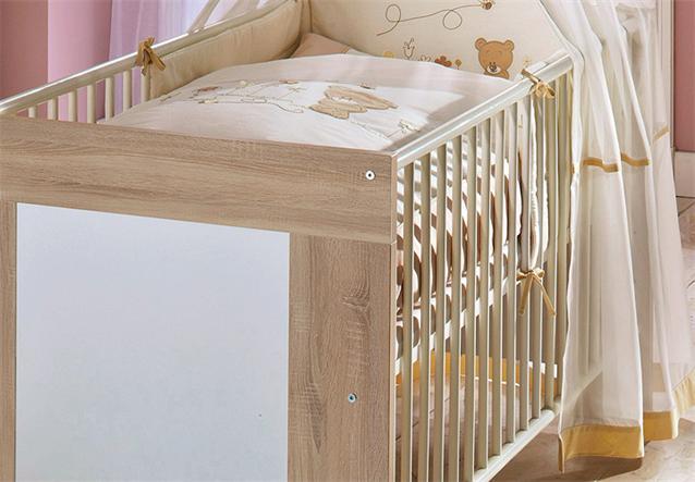 babybett michi kinderbett juniorbett sonoma eiche s gerau wei ebay. Black Bedroom Furniture Sets. Home Design Ideas