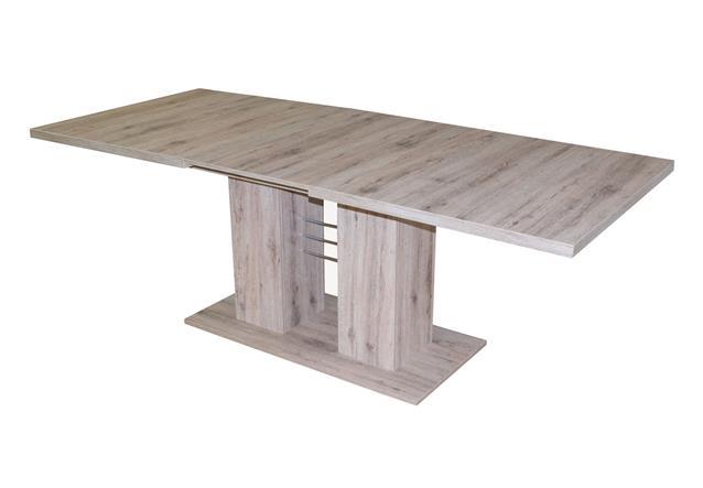esstisch paulo rio tisch esszimmertisch eiche wildeiche buche ausziehbar 140 180 ebay. Black Bedroom Furniture Sets. Home Design Ideas