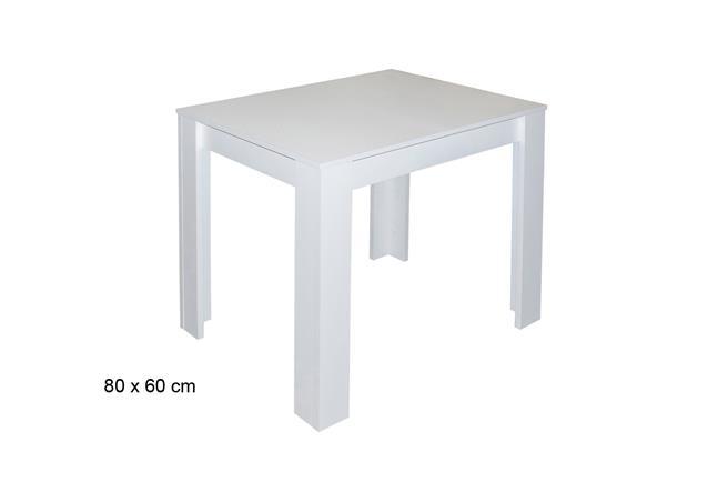 esstisch pit esszimmertisch in wei matt holztisch k chentisch tisch 80x60 cm ebay. Black Bedroom Furniture Sets. Home Design Ideas