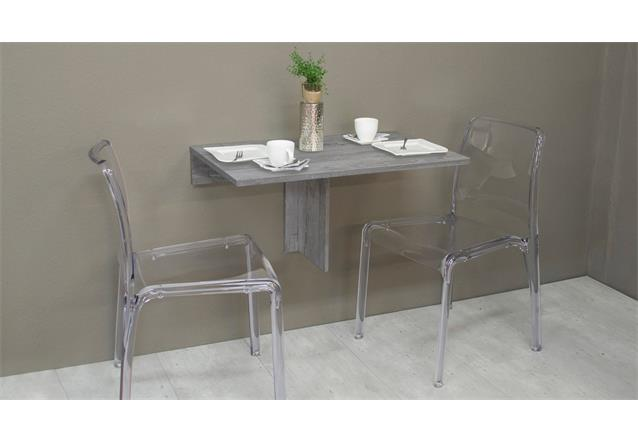 klapptisch klappi beton wandtisch esstisch k chentisch tisch klappbar eckig ebay. Black Bedroom Furniture Sets. Home Design Ideas