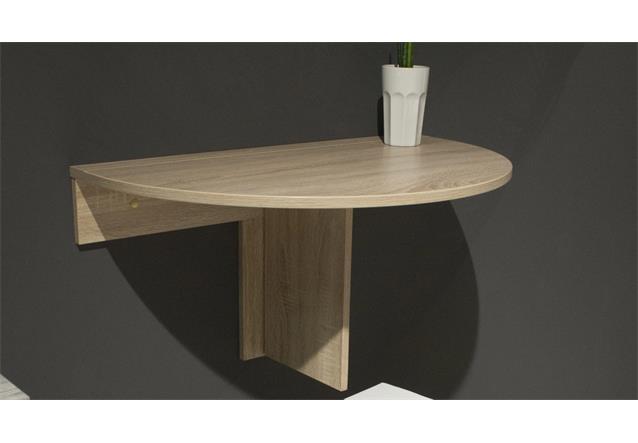 klapptisch klappi eiche s gerau rund wandtisch esstisch k chen tisch klappbar ebay. Black Bedroom Furniture Sets. Home Design Ideas