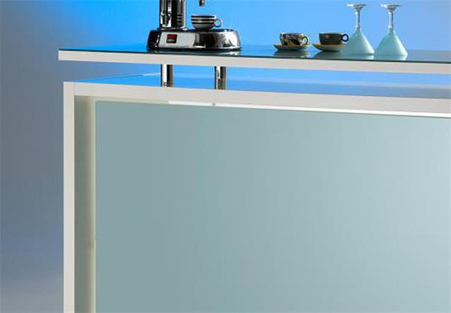 theke starlight bartheke bartisch barm bel milchglas und wei hochglanz. Black Bedroom Furniture Sets. Home Design Ideas
