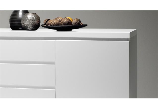 sideboard sydney anrichte in wei hochglanz lackiert mit 2 t ren 3 schubk sten ebay. Black Bedroom Furniture Sets. Home Design Ideas