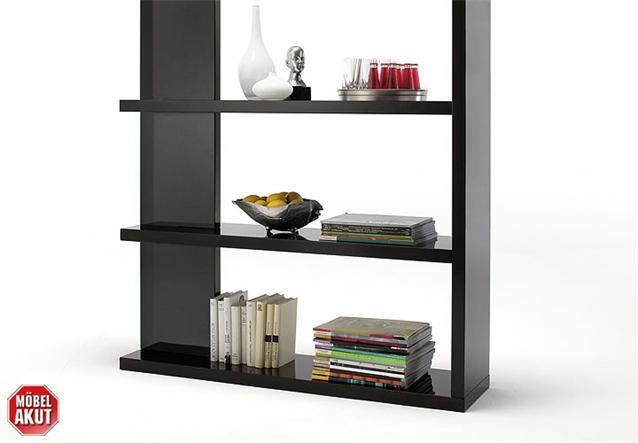 b cherregal tunis regal schwarz hochglanz neu ebay. Black Bedroom Furniture Sets. Home Design Ideas