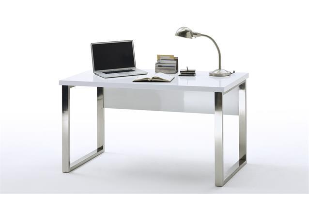 schreibtisch sydney b rotisch arbeitstisch in wei hochglanz lackiert 140x70 cm ebay. Black Bedroom Furniture Sets. Home Design Ideas