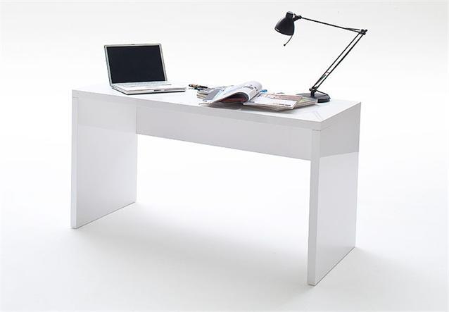 schreibtisch vando computertisch pc tisch in wei hochglanz lack ebay. Black Bedroom Furniture Sets. Home Design Ideas