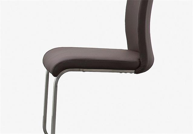 stuhl arco 6er set freischwinger st hle in echtleder braun und edelstahl ebay. Black Bedroom Furniture Sets. Home Design Ideas