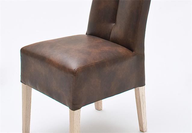stuhl 2er set fanny polsterstuhl esszimmerstuhl antik braun sonoma eiche ebay. Black Bedroom Furniture Sets. Home Design Ideas