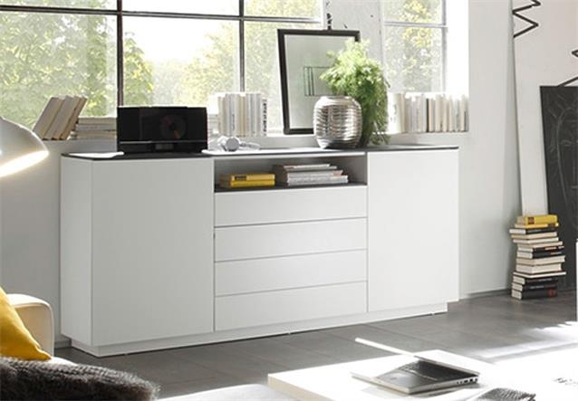 sideboard 2 darwin anrichte kommode wei matt lackiert. Black Bedroom Furniture Sets. Home Design Ideas