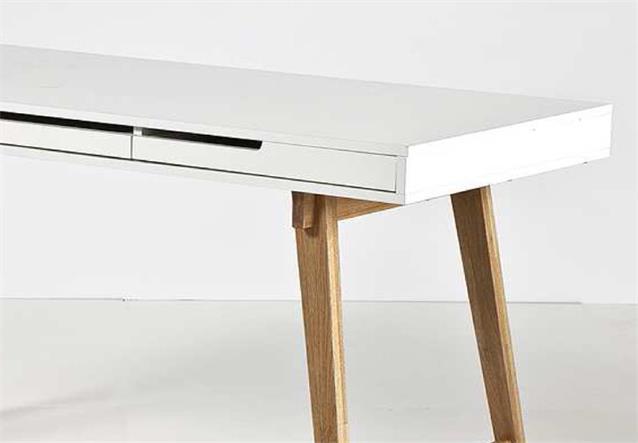 schreibtisch anneke b rotisch tisch mdf wei matt lackiert massivholz natur ebay. Black Bedroom Furniture Sets. Home Design Ideas