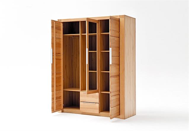kleiderschrank giant schrank garderobenschrank kernbuche teilmassiv 156 cm ebay. Black Bedroom Furniture Sets. Home Design Ideas
