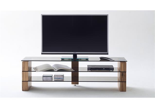 tv rack kari tv board lowboard in eiche massiv glas grau mit gr enauswahl. Black Bedroom Furniture Sets. Home Design Ideas